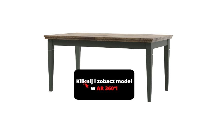 Stół rozkładany EVORA 92 zieleń dąb lefkas HELVETIA WM