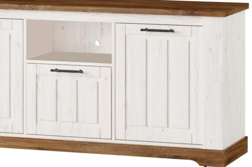 Szafka RTV COUNTRY 26 3-drzwiowa dąb stirling SZYNAKA MEBLE
