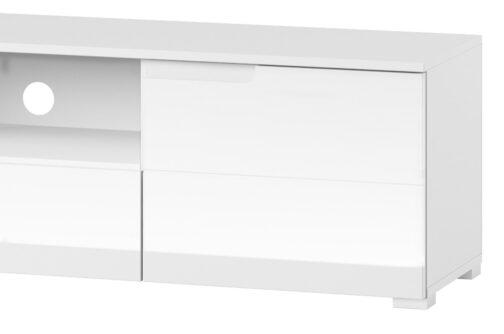 Szafka RTV SELENE 9 2-drzwiowa z szufladą biały połysk SZYNAKA MEBLE