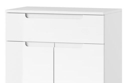 Szafka SELENE 19 2-drzwiowa z szufladą biały połysk SZYNAKA MEBLE