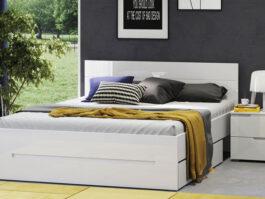 Łóżko SELENE 33 SN27 biały połysk