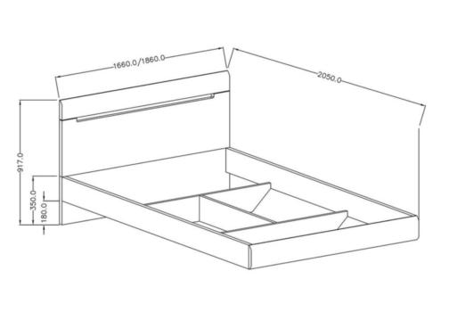 Łóżko HEKTOR TYP 31 160 biały połysk HELVETIA