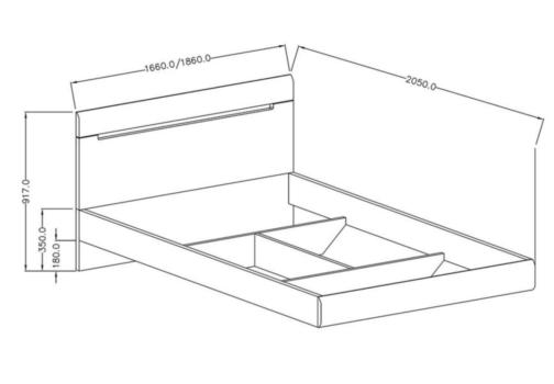 Łóżko HEKTOR TYP 32 180 biały połysk HELVETIA