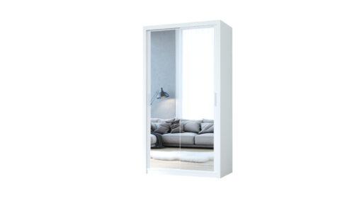 Szafa przesuwna z lustrem VISTA 120 biały