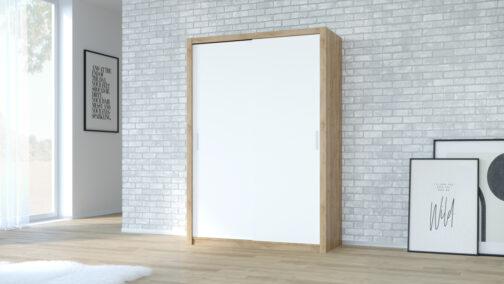 Szafa przesuwna VISTA 150 dąb artisan biały