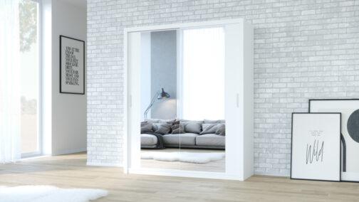 Szafa przesuwna z lustrem VISTA 180 biały