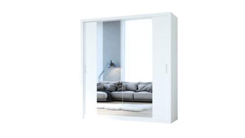 Szafa przesuwna z lustrem VISTA 200 biały
