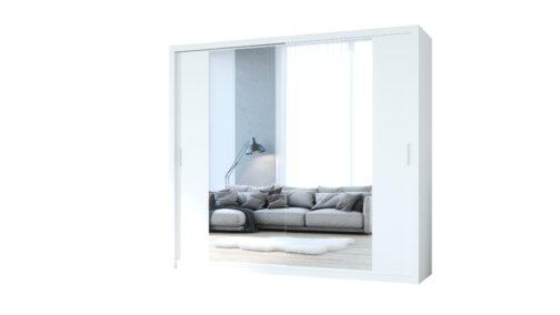 Szafa przesuwna z lustrem VISTA 220 biały