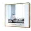 Szafa przesuwna z lustrem VISTA 220 dąb artisan / biały